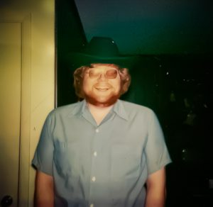 Photo of me, heading out to a concert, circa 1979.