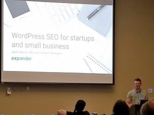 Josh Gellock talking about SEO for startups and small business